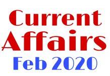 Current Affairs February 2020 in hindi