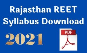 REET Syllabus Download 2021