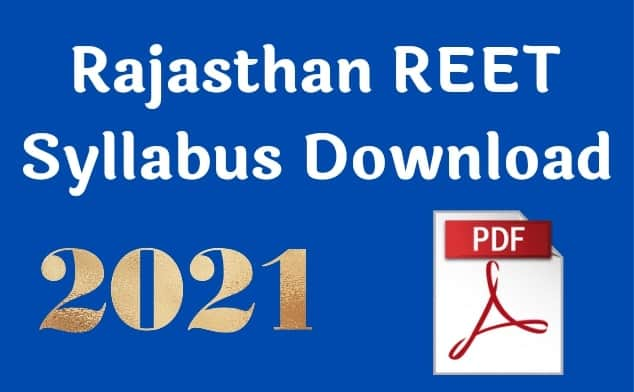 REET Syllabus Download 2021