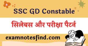 SSC GD Syllabus 2021